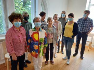 Italian kielen intensiivikurssi päästiin pitämään elokuun alussa Porin taidemuseon luentotilassa turvajärjestelyin.
