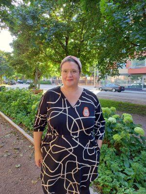 FT Laura Nissin perehdytti dantelaisia muinaisten roomalaisten nukkumistapoihin Porissa elokuun lopulla.